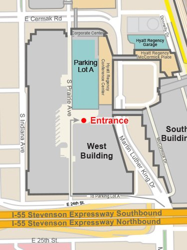 mccormick place parking lot A directions